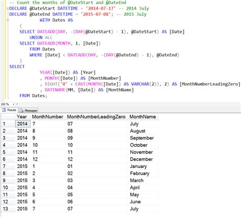 mysql date format get month name sql server get seconds between two dates calculate