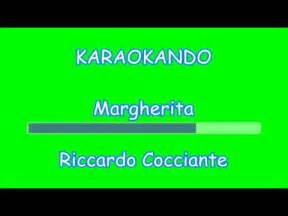 cocciante margherita testo karaoke italiano margherita riccardo cocciante testo