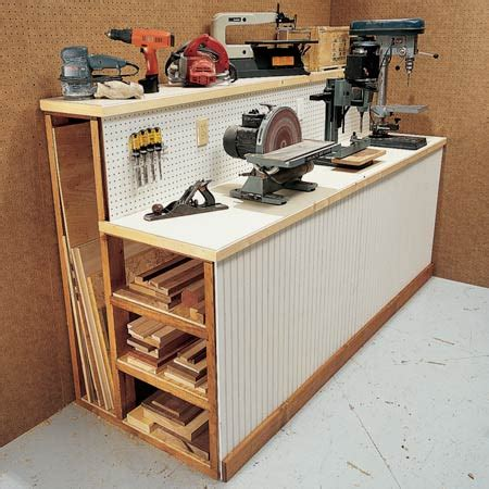 work bench idea woodwork workbench storage ideas pdf plans