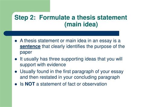 where is the thesis statement typically found in an essay ppt how to write a research report for science