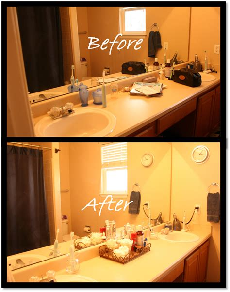 How To Organize Your Bathroom Vanity by Delightfully Organized Simple Bathroom Vanity
