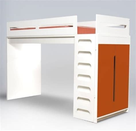 modern loft bed alex loft bed modern kids beds by allmodern