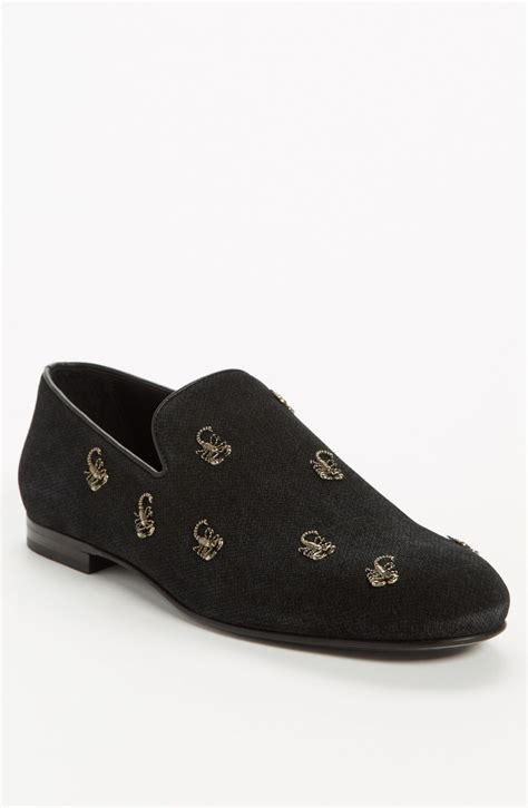 studded loafers for jimmy choo sloane scorpion studded leather loafer in black