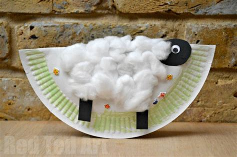 cardboard sheep template easy crafts for preschool children mental parentals