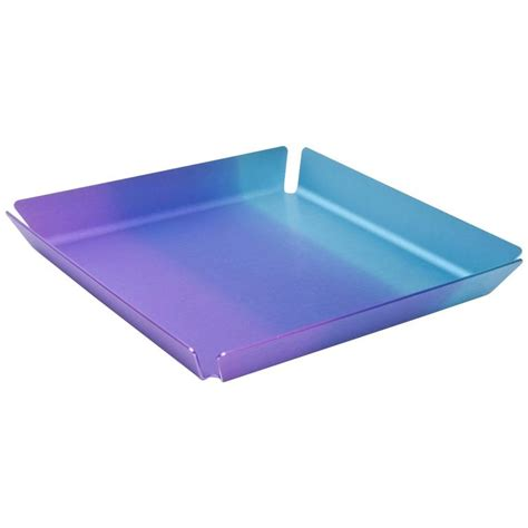 Special Edition Travel Dining Tray limited edition basel anodized aluminum serving bar tray for sale at 1stdibs