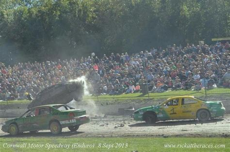 cornwall motor speedway more than 280 cars for the fireball enduro on sunday at