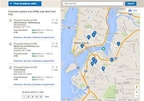 Closet Bank Of America by Bank Of America Locations Near Me Hours Atm Locator Map