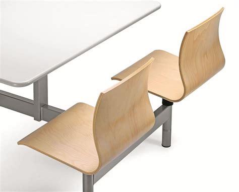 tavoli per mense tavolo monoblocco con 4 sedie in multistrato per mense