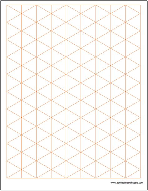 isometric graph paper template spreadsheetshoppe