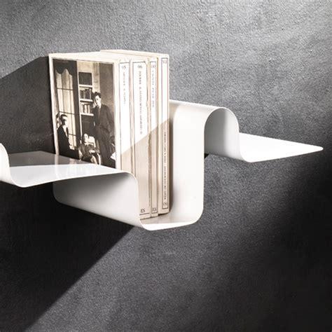 mensole metallo mensola moderna a parete in metallo bianco 85 cm