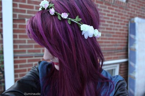cute color hairstyles tumblr flower crown wwwwwww by chi 41k we heart it
