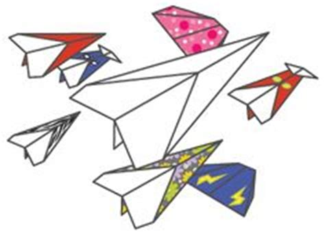 Make Your Own Fly Paper - paper airplane template craft how to paper
