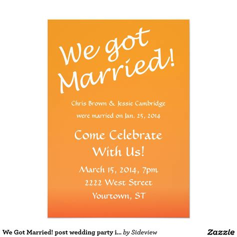 post wedding reception invitation wording theruntime