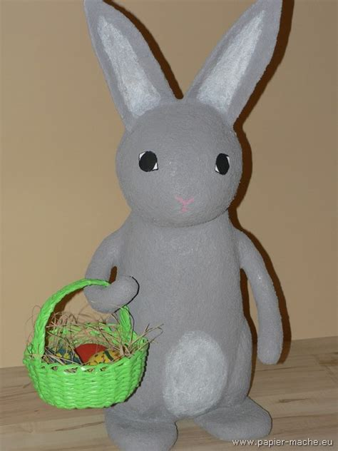 How To Make Paper Mache Rabbit - papier mache easter bunny