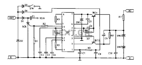 integrated circuit ignition system gt automotive gt automotive circuits gt 125 motorcycle electronic ignition circuit diagram l60423
