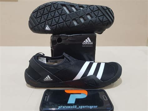 Terlaris Sepatu Sepeda Adidas Slip On Murah jual size 44 5 original asli adidas climacool jawpaw slip on black hitam outdoor water shoes