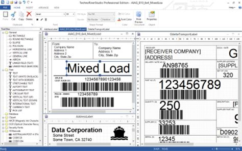 label layout software technoriverstudio barcode software