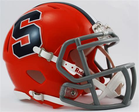 college football helmet design history syracuse orangemen ncaa mini speed football helmet