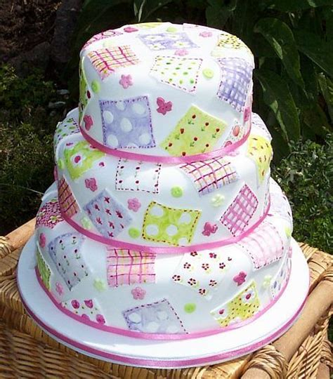 Patchwork Cakes - patchwork cake cake decorating recipes crafts