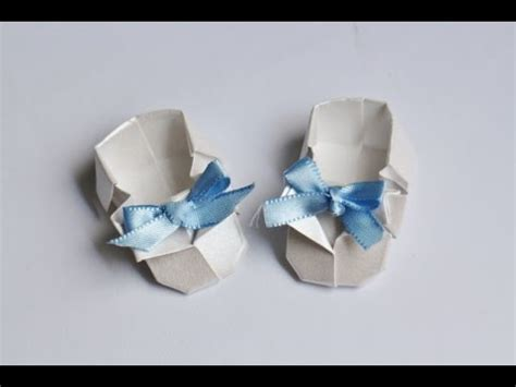 Origami Baby Shoes - origami tutorial sapatinho de beb 234 baby shoes