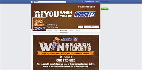 Snickers Sweepstakes - snickers brand nfl 2015 game and sweepstakes on facebook gameday snickers com