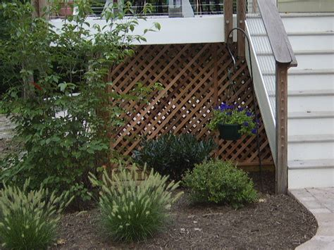 Lattice Around Shed by Dan Ini Deck Shed Storage