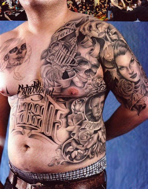 tattoo mafia collection of 25 mexican gangster on leg