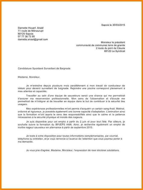lettre de motivation moniteur 233 ducateur candidature spontan 233 e lettre de motivation candidature