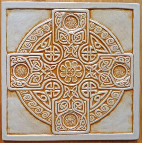 Handmade Decorative Tiles - decorative handmade ceramic tile celtic cross tile