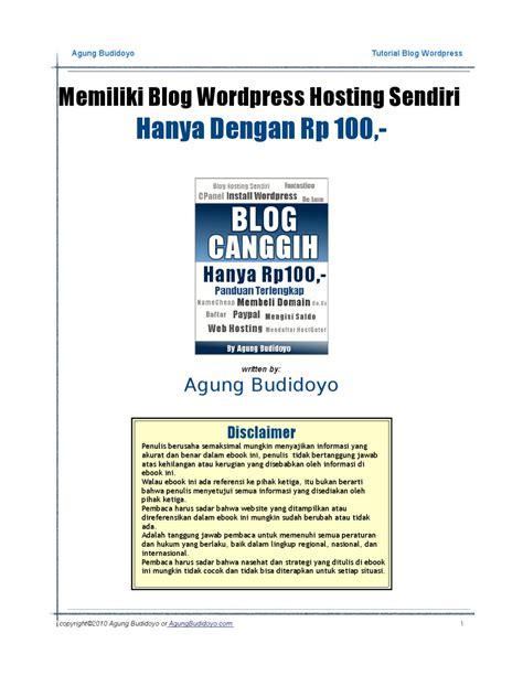 panduan membuat business plan panduan membuat blog wordpress hosting sendiri by agung