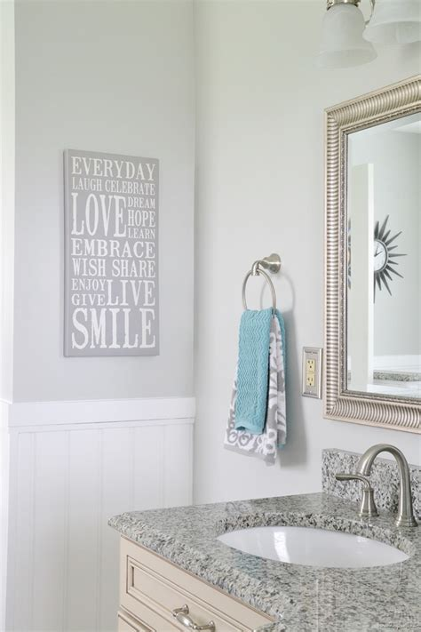 Notre Dame Bathroom Accessories Details On Robin S Bathroom Makeover And Bedroom Valspar Colors And Notre Dame