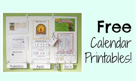 Homeschool Calendar Homeschool Freebies Free Calendar Board Printables