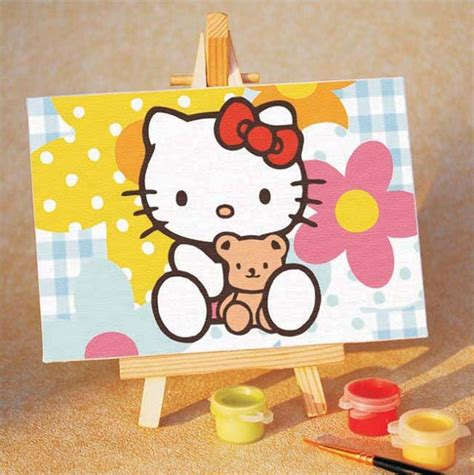 painting for hello hello paint by number kit drawing set 15x10cm 6