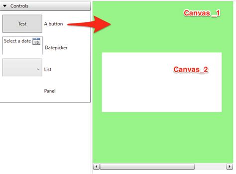 canvas layout wpf drag drop controls onto child canvas without parent can