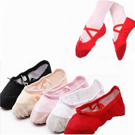 sepatu balet anak bahan canvas pointe shoe size 32