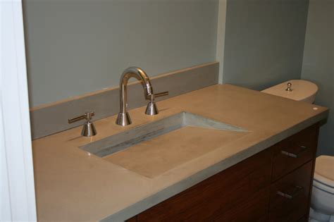 bathroom sink countertops concrete bath sinks modern vanity tops and side splashes minneapolis by concrete arts