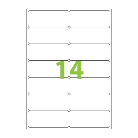 avery 14 labels per sheet template avery laser labels l7063 14 sheet hduty labl5694 cos