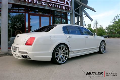 custom bentley flying spur bentley flying spur with 22in savini sv41 wheels bentley