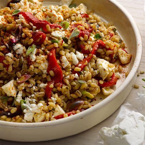 ottolenghi vegetarian pasta recipes farro and roasted pepper salad i ottolenghi recipes