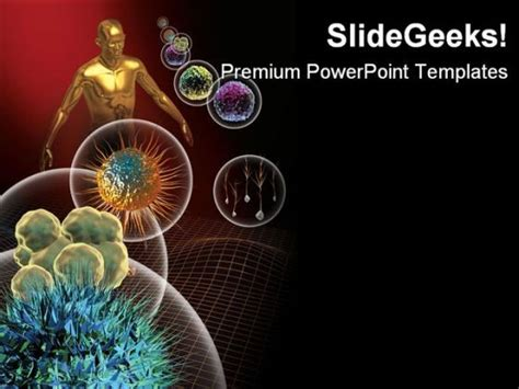template free ppt virus stem cells medical powerpoint template 0910 powerpoint