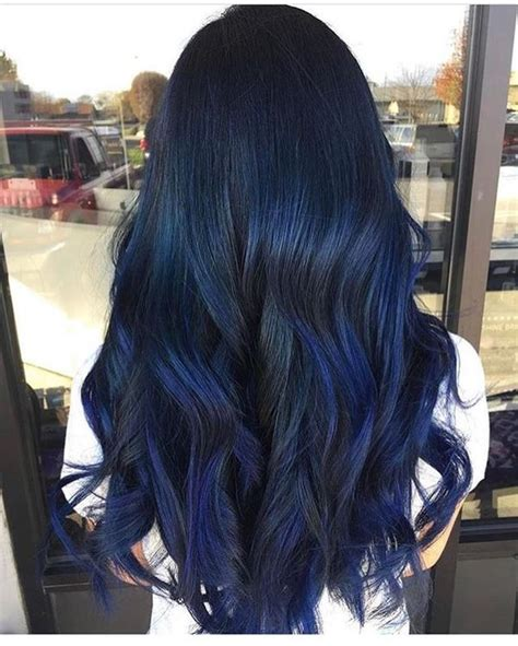 blue black hair color ideas best blue highlights in black hair