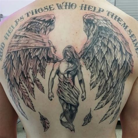 fallen angels tattoo best 25 on back ideas on wing