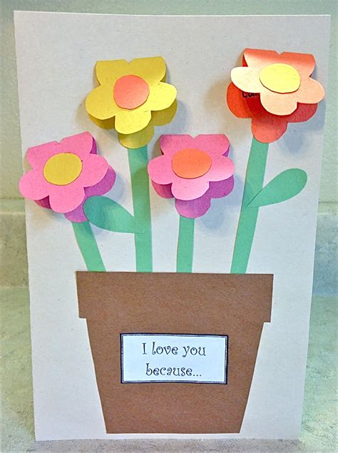 paper crafts for s day construction paper vase family crafts