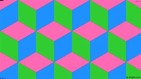 wallpaper green blue pink wallpaper 3d cubes green blue pink ff69b4 32cd32 1e90ff