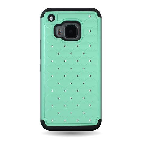 Casing Htc One M9 Custom Hardcase for htc one m9 rhinestone hybrid soft protective phone cover ebay