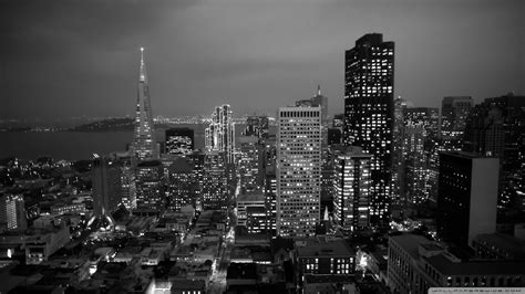 Cityscape Wallpaper In Black And White By Lutece | black and white cityscape wallpaper wallpapersafari