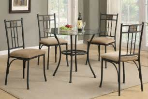 Circle Dining Table Set Berkley 5pc Glass Top Dining Table Set