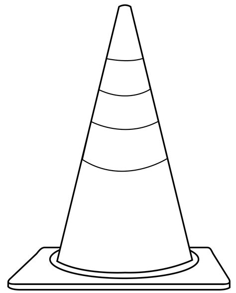 Coloring Pages Of Cones cone clip cliparts co