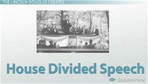 house divided speech the lincoln douglas debates of 1858 summary significance video lesson