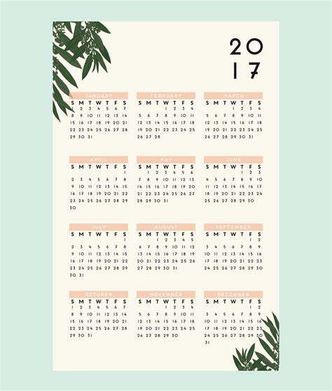 13 modern wall calendars to get you organized for 2017
